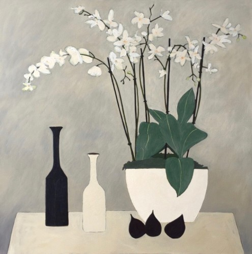 Stephen Lavis, Figs and Orchids (Hungerford Gallery)