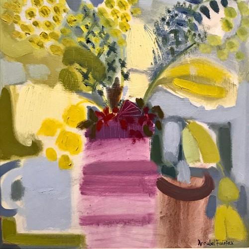 Annabel Fairfax, Striped Pot (London Gallery)