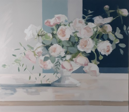 Myles Oxenford, Arrangement with Peonies (Hungerford Gallery)