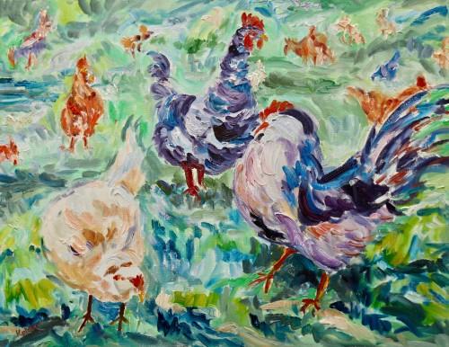Fi Katzler, Coquelets (Hungerford Gallery)