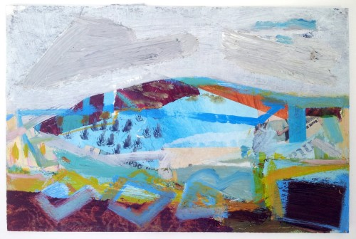 Liz Hough, Trencrom Morning (Hungerford Gallery)