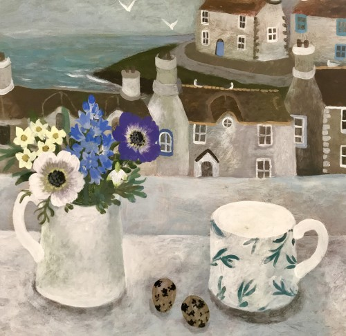 Sarah Bowman, Spring Flowers and Quails Eggs (Hungerford Gallery)
