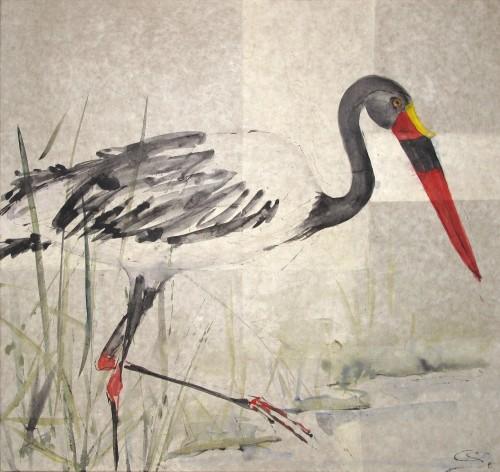 Christine Seifert, Saddle Billed Stork (London Gallery)