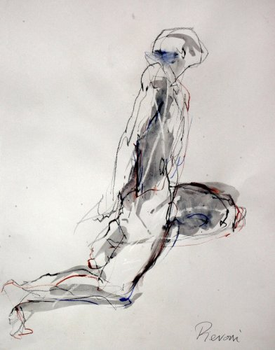 Bella Pieroni, Figure 14 (Mounted) (Hungerford Gallery)