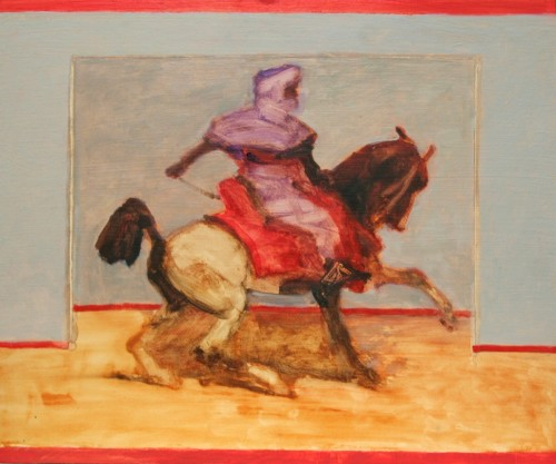 Antoine de La Boulaye, Orientalist Horseman VI (London Gallery)