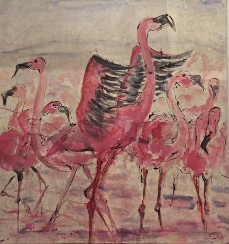 Christine Seifert, Flamingos (London Gallery)