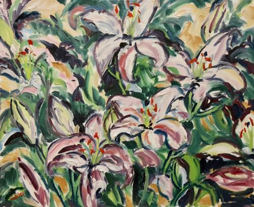 Fi Katzler, Lillies (Hungerford Gallery)