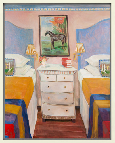 Lottie Cole, Interior with Painting of 'The Tetrarch' (London Gallery)