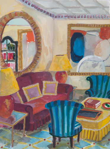 Lottie Cole, Interior with Roger Hilton (Hungerford Gallery)