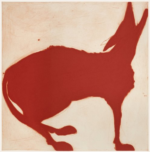 Kate Boxer, Red wolf (Mounted)