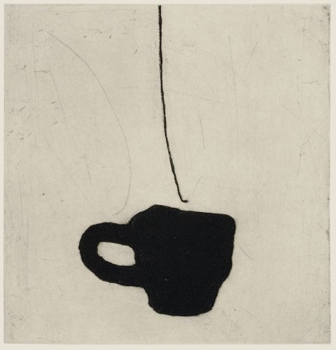 Kate Boxer, Coffee cup (Mounted)