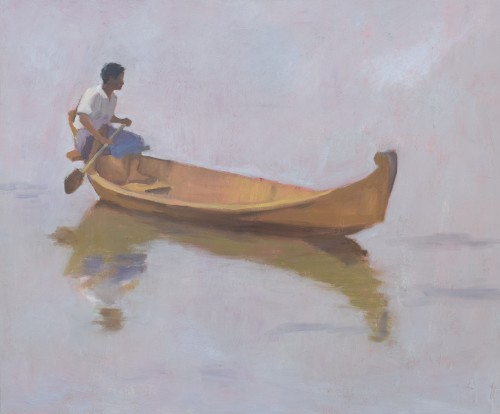 Clare Granger, Boy in a Boat (Hungerford Gallery)