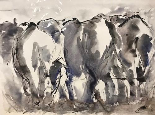 Christine Seifert, Elephants Away (Unframed)
