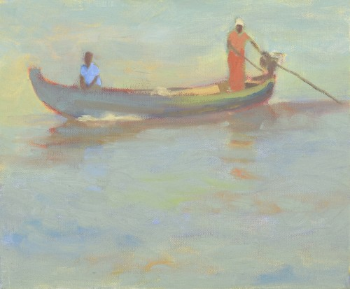 Clare Granger, Figure in Orange (London Gallery)