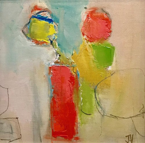 Jo Vollers, Orange Tulips (Hungerford Gallery)