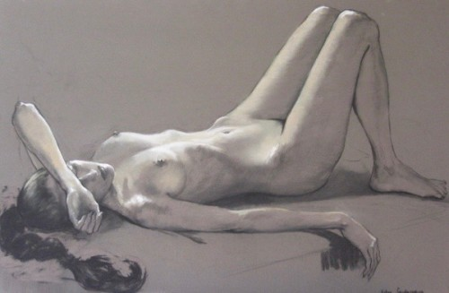 Katya Gridneva, Reclining Nude (London Gallery)