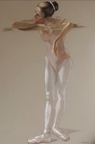 Katya Gridneva, Dancer in Pink Leotard (Hungerford Gallery)