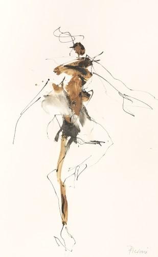 Bella Pieroni, Fast Turns (Mounted) (London Gallery)