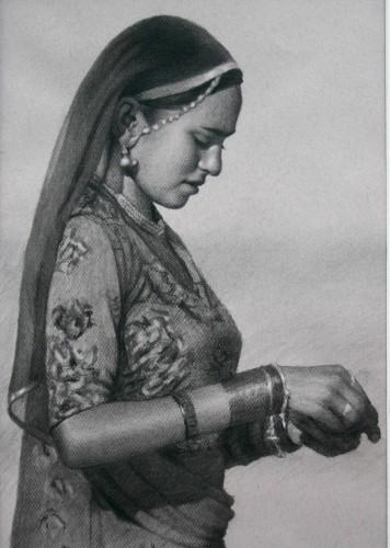 Mark Clark, Rajasthani Woman, Pushkar (London Gallery)