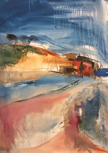 Jo Vollers, Budleigh Cliffs (Hungerford Gallery)
