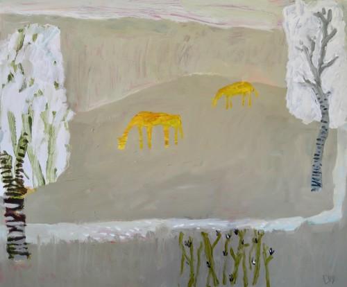 David Pearce, Grazing Amongst the Silver Birch (London Gallery)