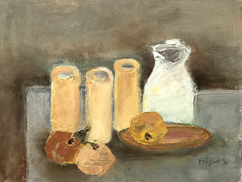 Val Pitchford, White Jug (Hungerford Gallery)