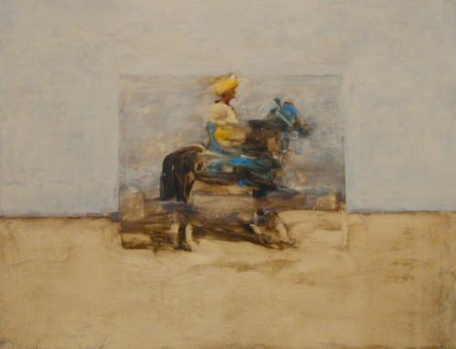 Antoine de La Boulaye, Orientalist Horseman II (Hungerford Gallery)