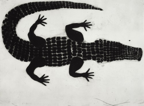 Kate Boxer, Alligator (Mounted)