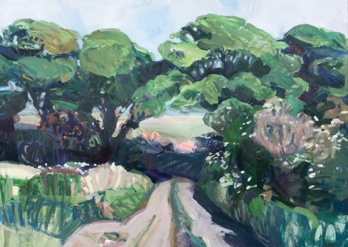 Minnie Shaw Stewart, East Garston Down Summer (Hungerford Gallery)
