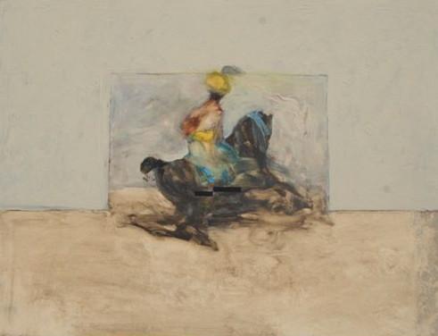 Antoine de La Boulaye, Orientalist Horseman I (Hungerford Gallery)