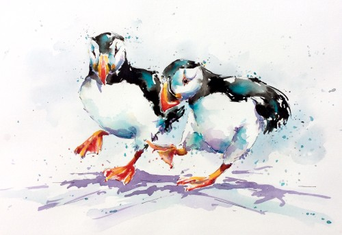 Julia Cassels, Puffin Feet (Hungerford Gallery)