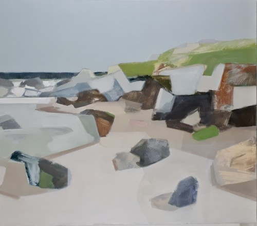 Myles Oxenford, Porthmeor, Mid Tide (Hungerford Gallery)