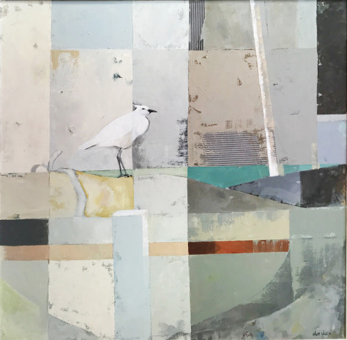 Angela Wilson, Egret on Guard (Hungerford Gallery)