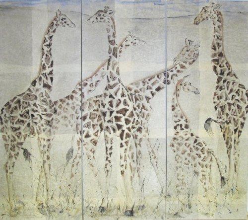 Christine Seifert, Giraffe (Triptych)