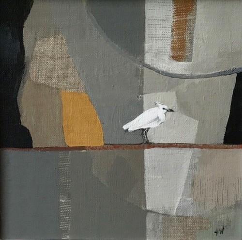 Angela Wilson, Egret on a Wire III