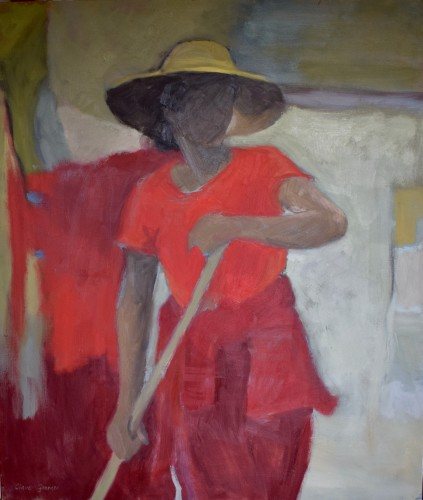 Clare Granger, Ochre Hat (Hungerford Gallery)