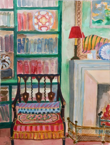 Lottie Cole, Interior with Chair and Hermes Plate (Hungerford Gallery)