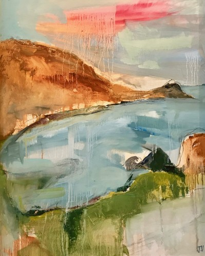 Jo Vollers, Lamorna Coastline (Hungerford Gallery)