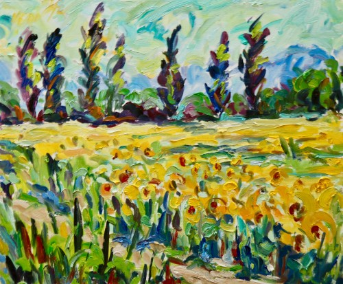 Fi Katzler, Sunflowers, St Remy, Provence (London Gallery)