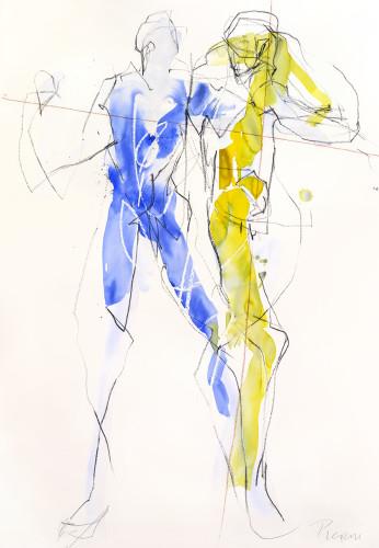 Bella Pieroni, Honir & Mimir (Framed) (London Gallery)