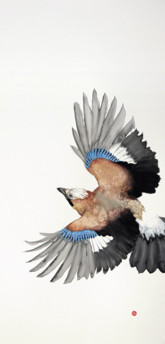 Karl Martens, Jay Flying II (Unframed)