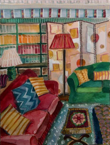 Lottie Cole, Interior with Screen (Hungerford Gallery)