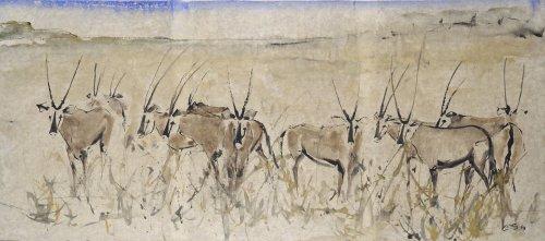 Christine Seifert, Oryx Grazing (London Gallery)