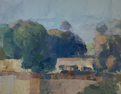 Minnie Shaw Stewart, Along the Ridge III (Hungerford Gallery)