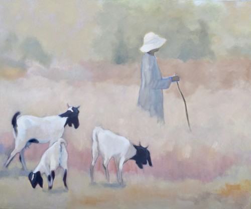 Clare Granger, Early Morning Goats