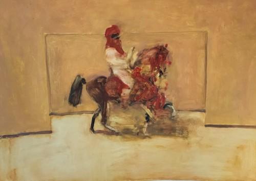 Antoine de La Boulaye, Orientalist Horseman in Red (Hungerford Gallery)