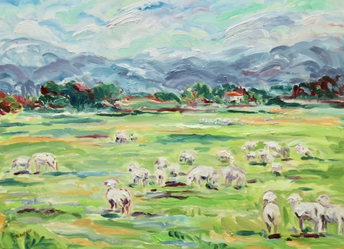 Fi Katzler, Cadenet Sheep (Hungerford Gallery)