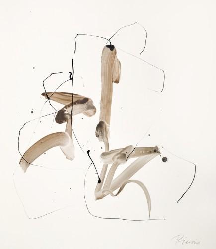Bella Pieroni, Two Seated Figures (Mounted) (London Gallery)