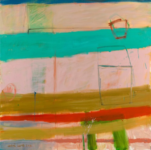 Chloë Lamb, Turquoise and Pink (Hungerford Gallery)