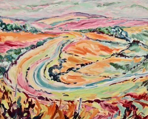 Fi Katzler, Towards Alfriston (Hungerford Gallery)